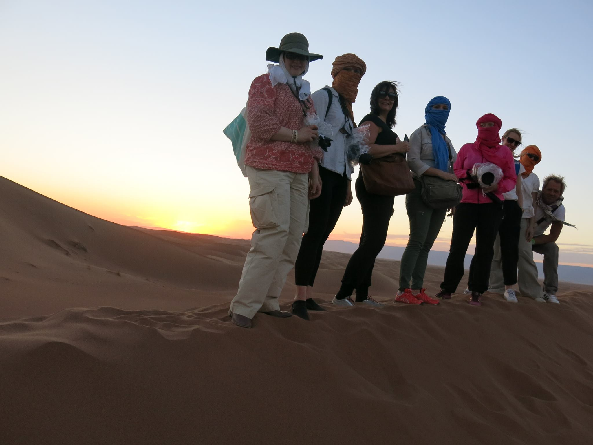 gruppbild sanddyn