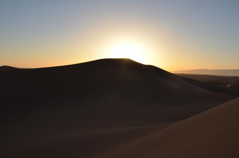 solnedgång sahara