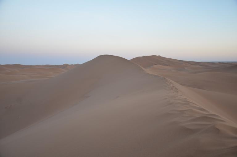 fotspår öken sanddyn