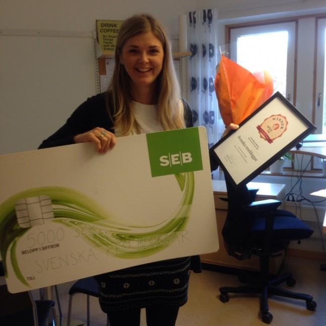 Venture cup vinnare region norr Johanna Westberg Svenska Resebloggar