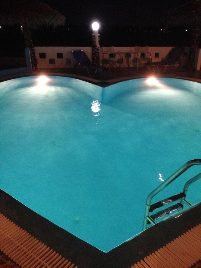 Honeymoon beach hotel pool