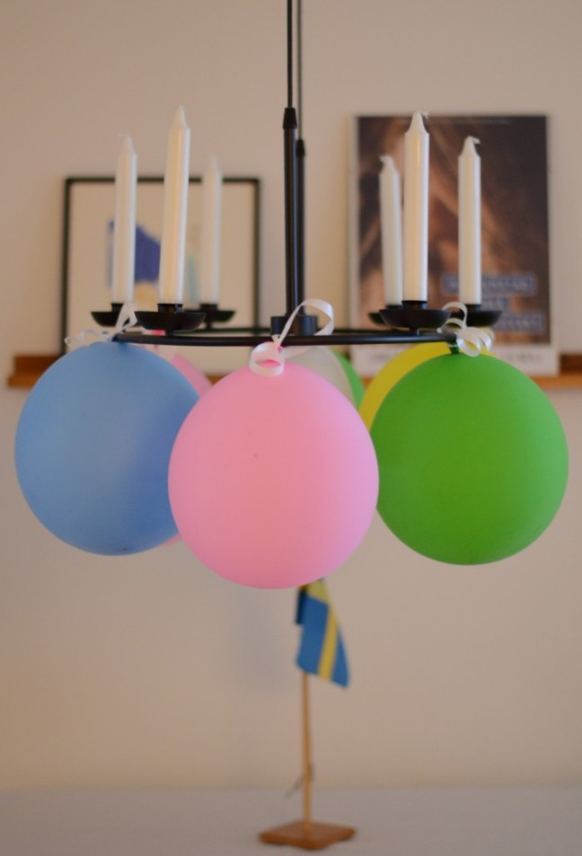 ballonger i ljuskrona