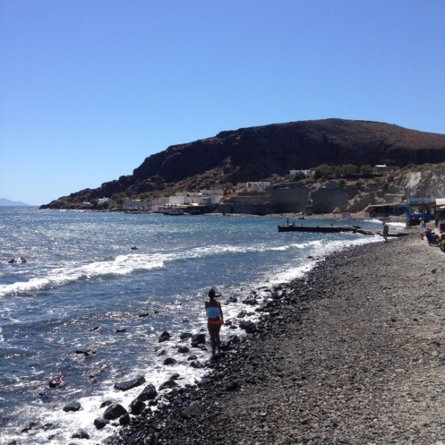 Black beach Santorini
