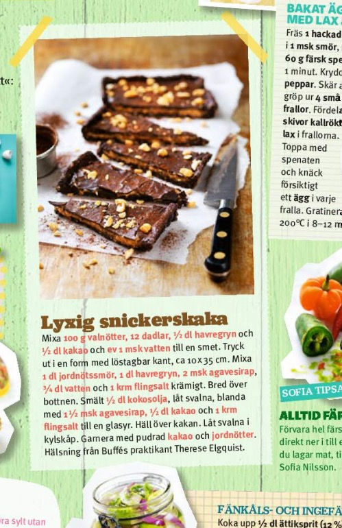 recept snickerskaka ica buffé