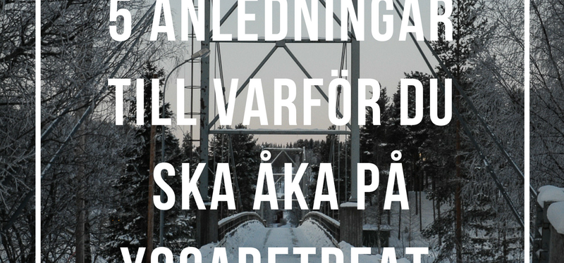 Yogaretreat i Norrland – här är mina 5anledningar