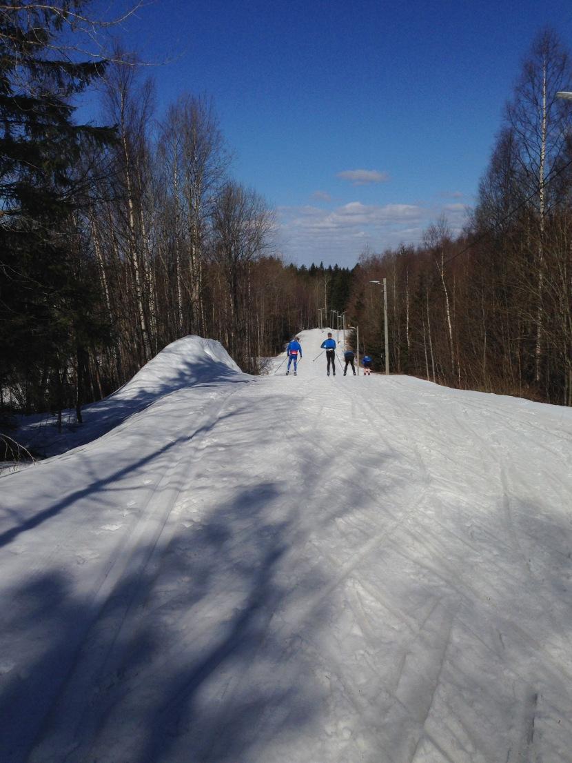 Sista skidåkningen för säsongen16-17