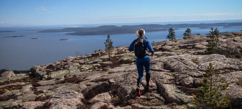 Trailrunning i skuleskogen på Högakusten