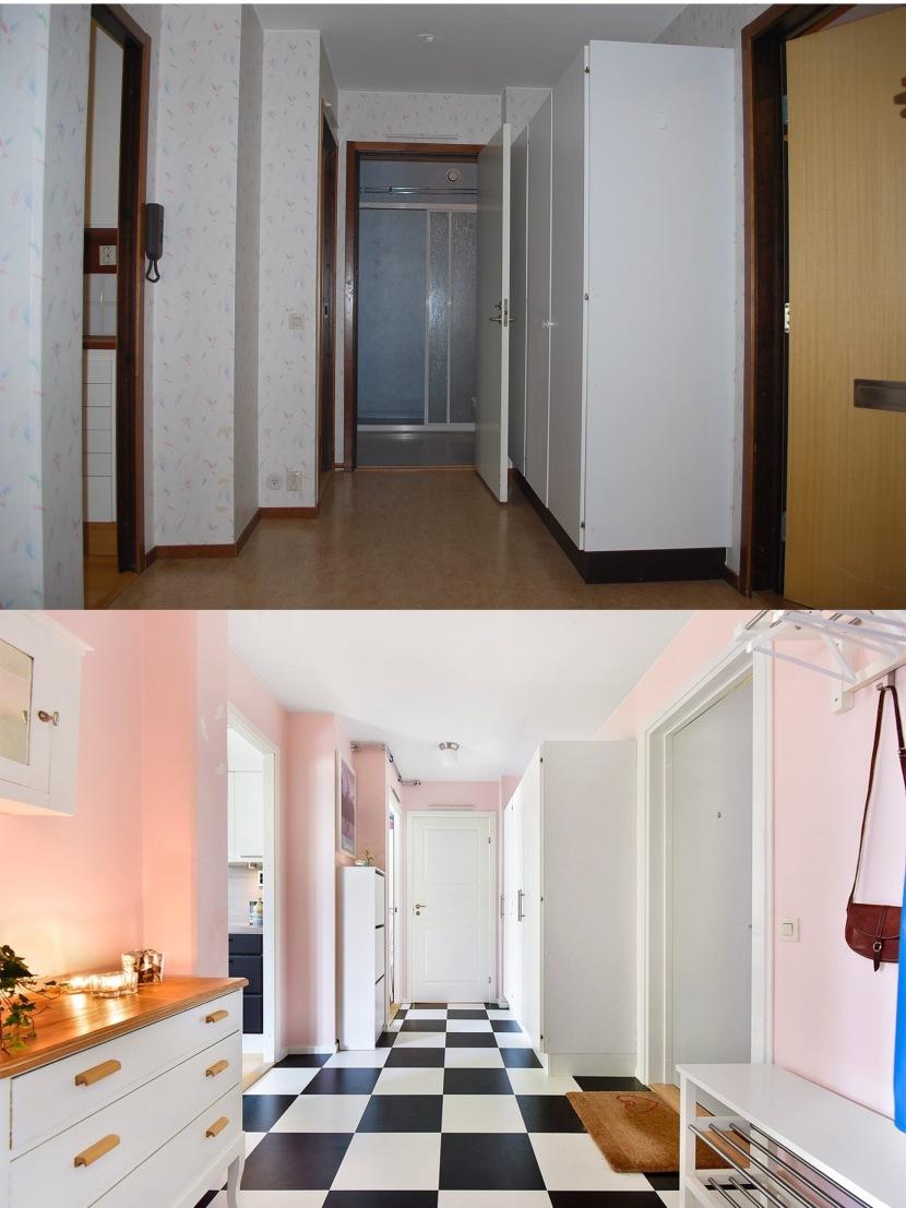 Bilder på min lägenhet – före ochefter