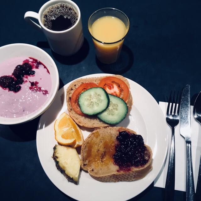Att vara vegan påhotellfrukost