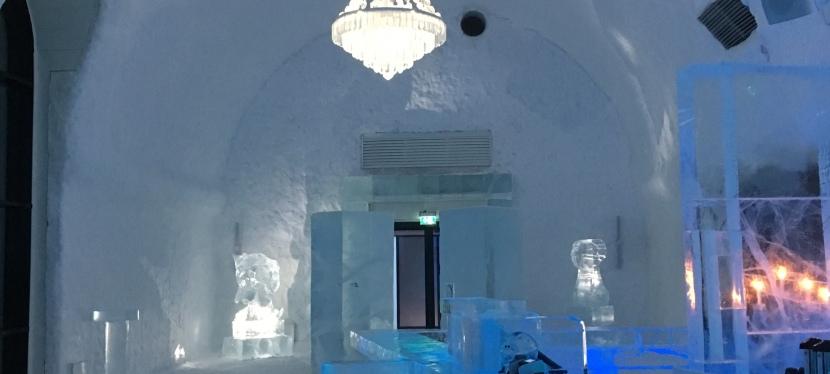 En dag i Jukkasjärvi – långfärdsskridskor och IceHotel